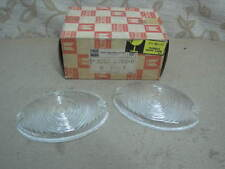 2 NOS GENUINE ISUZU HAKKOSHA ELF KA TL TLD FRONT SIGNAL LIGHT LENSES CLEAR COLOR