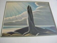 North Shore Lake Superior 13x15 inches Matted Print By Lawren Harris