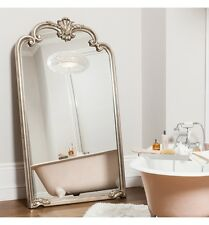 """Palazzo X Large Ornate Silver Full Length Wall Leaner Floor Mirror 73"""" x 41"""""""