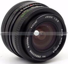 Vivitar auto wide-angle gran angular 2.8/28mm Prime lens Canon FD (288)