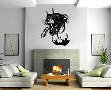 Panther in Flames Jungle Hunter Animal Decor Wall Mural Vinyl Art Sticker M366