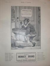 Brooke's Monkey Brand Soap salesman advert UK 1901