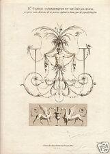 1780 Cahier d'Arabesques Rome sepia engraving Etienne Lavallee Poussin
