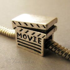 Movie Clapper, Movie Buff European Charm Bead For Charm Bracelets And Necklaces