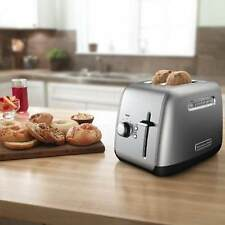 Kitchenaid Contour Silver With Stainless Steel 2-Slice Toaster Kmt2115Cu