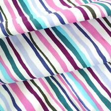 Wavey Stripe - Pink Navy Purple Blue per M 100 Cotton Fabric Patchwork Craft
