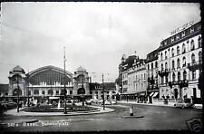 Switzerland~1953 BASEL~BALE~RR Station~Hotel Euler~RPPC