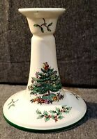 Spode Christmas Tree Candle Stick Holder Wide Base England