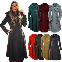 Women Warm Winter Slim Coat Jacket Thick Parka Overcoat Long Trench Coat Outwear
