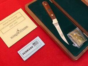 Schrade USA mint in walnut box 1999/2000 Duck Stamp full tang fixed blade knife