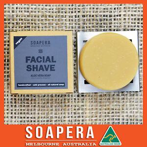 1 x ALOE VERA facial shaving soap -all natural handmade vegan soap-Aussie made