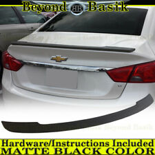 2014-2018 Chevy IMPALA Lip Factory Style Spoiler Wing ABS MATTE BLACK