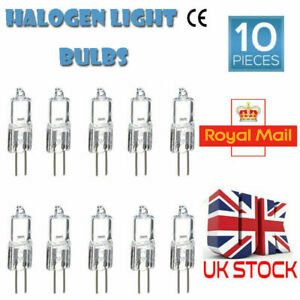 10Pcs G4 Long Life Halogen Capsule Light Bulbs LED Lamp 12 Volt 5W 10W 20W 35W
