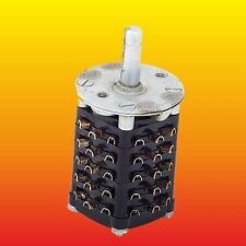 5 POLE 11 POSITIONS TESLA NON-SHORTING ROTARY SWITCH APM