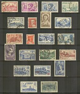 France #290/411, 1933-1941 Commemorative & Pictorial Issues, Mixed