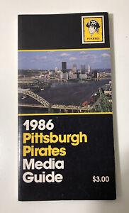 1986 Pittsburgh Pirates Media Guide Book MLB Baseball MINT