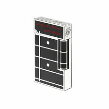 S.T. Dupont L.E. Rolling Stones Black Ligne 2 Lighter 16153 (016153) New In Box