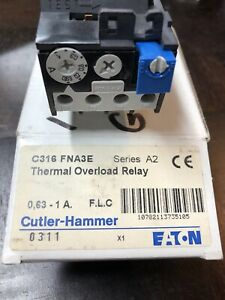 Eaton Cutler Hammer C316 FNA3E Series A2 Thermal Overload Relay (t90)