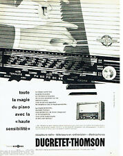 PUBLICITE ADVERTISING 016  1958  DUCRETET-THOMSON   radio-récépteur Orthovision
