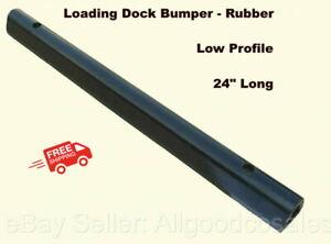 "RUBBER LOADING DOCK BUMPER Low Profile 24"" Long Truck Dock Trailer Wall Protect"