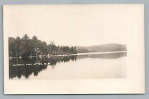 Blaisdell Lake RPPC Sutton NH Merrimack County—Rare Antique Photo VELOX 1910s
