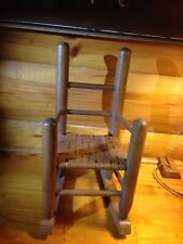 Hand Made Oak  Doll's Rocking Chair 14 Inches Tall Cane? Seat