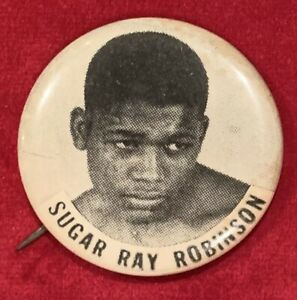 Vintage 1960's Sugar Ray Robinson PM10 Boxing Pin Pinback Button Antique Early