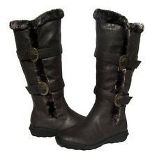 Women's BOOTS Knee High  Brown Winter Fur Lined Snow shoe Ladies size 8