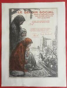 LE DEVOIR SOCIAL - Lithographie de Théophile-Alexandre STEINLEN (1859/1923)