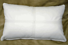 Pillow Cushion Cover Leather Decor Set Genuine Soft Lambskin White All sizes 16