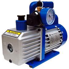 Pompe a vide 42L,2 etages,vacuomètre,electrovanne,collage,débullage,frigoriste