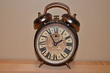 Vintage, Antique Working Wind Up Double Bell Alarm Clock - Made In Germany