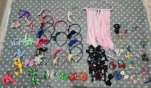 Huge Bundle Of Girls Hair Accessories With a Bow/Clip Hanger