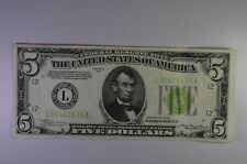 1934 $5 Federal Reserve Note -  L06409435A  - Great Condition !!