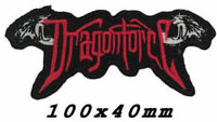 DRAGONFORCE -Red-DEVIL WINGS IRON ON PATCH -A1252