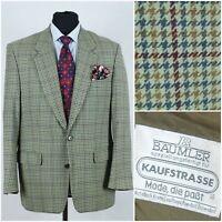 Mens BAUMLER SIZE UK 42 Check Houndstooth Dogtooth Wool Sport Coat Blazer Jacket
