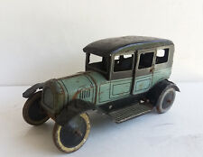 Bing tin old-timer Sedan Limousine wind-up clockwork tin car,1920's Germany-RARE