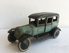 Bing Tin Old-Timer SEDAN LIMOUSINE WIND-UP CLOCKWORK TIN voiture, années 1920 Allemagne-RARE