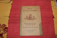 Vintage Perth Amboy New Jersey 1949 Concert Program Maenner & Damenchor