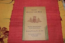 Vintage Perth Amboy New Jersey 1949 Concert Program-Maenner & Damenchor