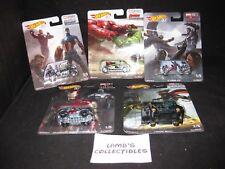 Hot Wheels 50th Marvel Studios concept art series 5 car set Mattel die cast cars