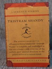 Tristram Shandy Sterne Modern Library Toledano Style 5.1 with Dust Jacket 1929