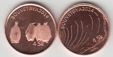 BOUVET ISLAND (BOUVETØYA) 4 Skilling 2014 penguins, unusual coinage