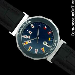 CORUMADMIRAL'S CUP Mens Nautical SS Steel & Ceramic Watch - Mint with Warranty