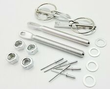 Motamec Bonnet Pins Competition Alloy with Retained Slider Lynch Pin Sliver