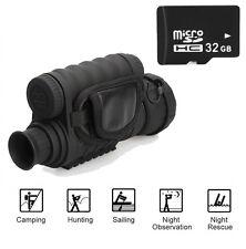 720P 6X50 Digital IR Night Vision Monocular 350m Range Take Photo Video+32GB H2