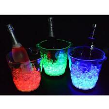 4L Color Changing LED Ice Cooler Bucket Party Bar Table Beer Wine Drinks Box