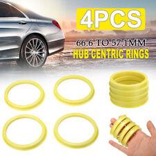 4x Wheel Bore Center Collar Hub Centric Rings 66.6mm to 57.1mm For  AUDI SKODA