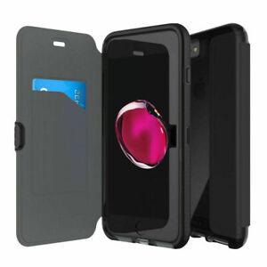 Apple Iphone 7 8 Se 2020 7 8 + plus Tech21 book case card Evo wallet cover Black