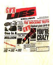 GUNS N' ROSES cd cvr GN'R LIES Official White SHIRT XL New you're crazy patience